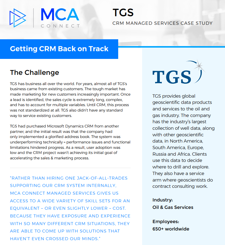 crm case study with solution